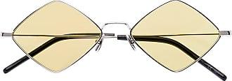 Saint Laurent Eyewear Óculos de sol quadrado Lisa - Metálico