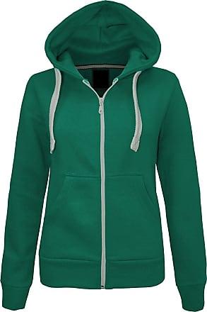 Momo & Ayat Fashions Ladies Girls Plain Hoodie Sweatshirt Fleece Lined UK Size 8-22 (UK 20 (EUR 50), Green)