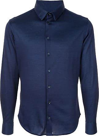 Giorgio Armani Camisa lisa - Azul