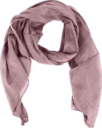Zwillingsherz silk scarf for women, girls, plain elegant accessory/cotton/silk scarf/neck scarf/shoulder scarf or shawl. - Pink - One size