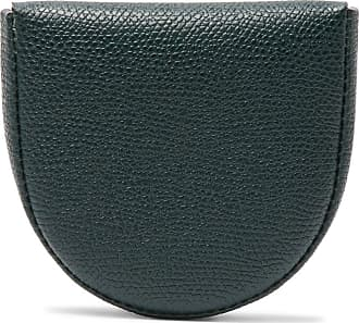 Valextra Tallone Pebble-grain Leather Coin Wallet - Green