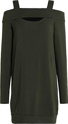 c1a73482241 Bailey 44 Bailey 44 Woman Cold-shoulder Stretch-modal Jersey Mini Dress  Army Green