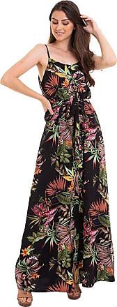 Kinara Vestido Longo Estampado Botão-P