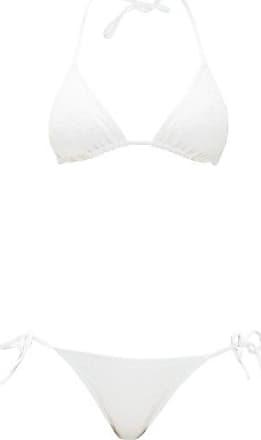 Eres Veston Twill Braided Chevron-jacquard Bikini - Womens - White