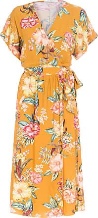 Dress To Vestido Midi Estampado - Amarelo