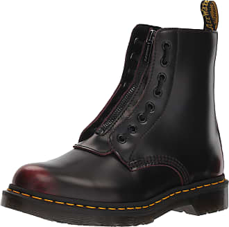 Dr. Martens Womens 1460 Pascal FRNT Zip Ankle Boots, Cherry Red, 4 UK (37 EU)