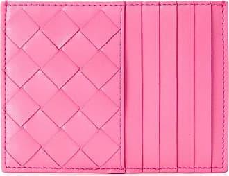 Bottega Veneta Intrecciato weave cardholder - Rosa