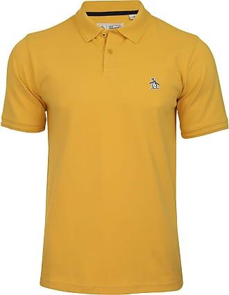 Original Penguin Sticker Pete Polo Shirt in Honey Gold M