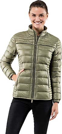 Vincenzo Boretti Womens Jacket Slim-fit Fitted Quilted Soft Long-Sleeve Lightweight Warm Smart Elegant Ladies Women Designer Padded Jacket Olive XL