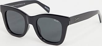 Quay After Hours oversized square sunglasses in black