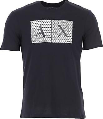 A|X Armani Exchange T-Shirts für Herren, TShirts Günstig im Sale, Dunkelblau, Baumwolle, 2019, L M XL