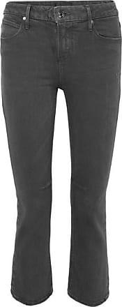 Rta Kiki Cropped High-rise Flared Jeans - Black