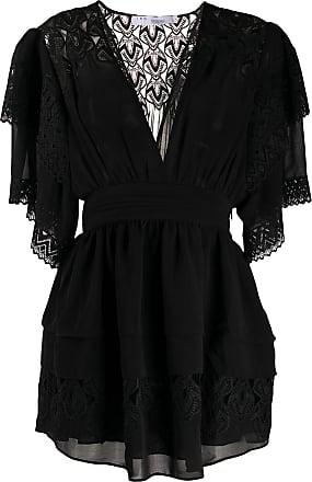 Iro deep V-neck lace dress - Black
