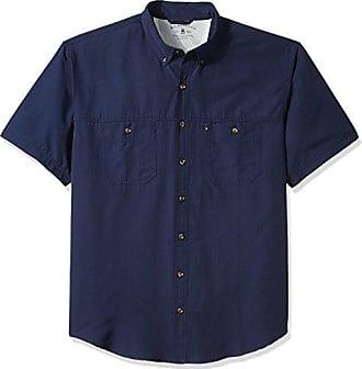 G.H. Bass & Co. Mens Size Big and Tall Explorer Short Sleeve Button Down Fishing Shirt, Legacy Rich Navy Blazer S2018 2, Large