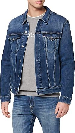 Calvin Klein Jeans Mens Foundation Slim Denim Jacket, Blue (Da110 Light Blue 1Aa), Medium (Size:M)