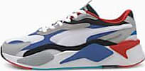 Puma Womens PUMA Rs-X Puzzle Trainers, White/Dazzling Blue/Hi Rise, size 10.5, Shoes