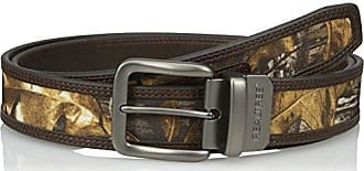 Realtree Mens Big-Tall Reversible Belt with Camo Inlay, Camo/Brown, 50/52