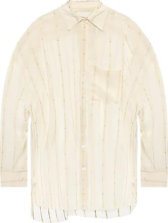 Lanvin Check Pocket Shirt Womens Cream