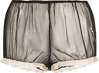 Kiki De Montparnasse x Caroline Vreeland microphone sheer shorts - Black