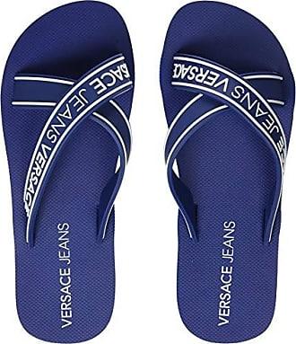 2d0742eafe8 Versace Herren Shoes Zehentrenner Blau (Blu Avio 239)