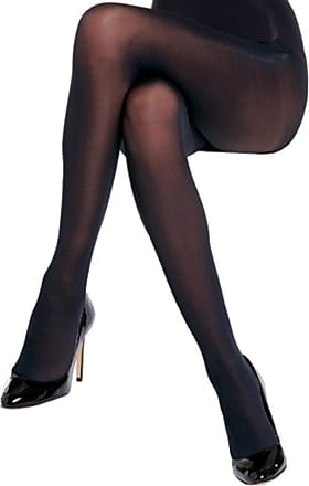 Size: M//L Black Charnos Womens 40 Denier Opaque Tights 2 Pair Pack Large