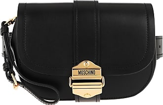 Moschino Belt Bags - Leather Belt Bag Black Fantasy Print - black - Belt Bags for ladies