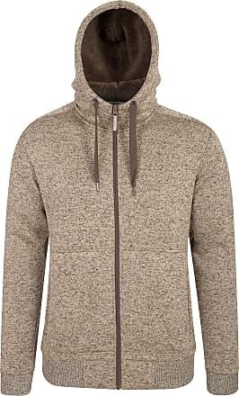 Mountain Warehouse Nevis Mens Fur Lined Hoodie - Soft Fleece Sweatshirt, Warm, Comfortable, Adjustable Hood & Front Pockets Zip Up Hood - for Winter Walking & Jogging Be