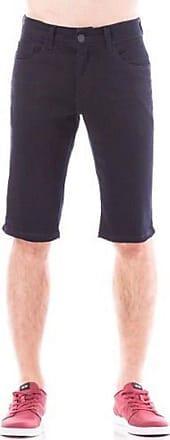 Eventual Bermuda Jeans Masculina Sarja Black Middle Plus Eventual