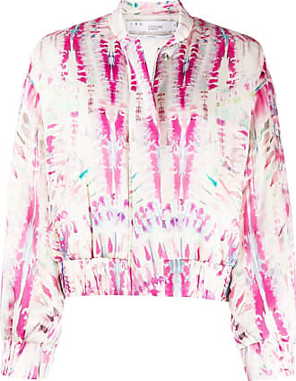 Iro abstract-print cropped jacket - PINK