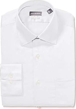 f5fc527ad8ee3 Van Heusen Mens Dress Shirts Fitted Lux Sateen Stretch Solid Spread Collar