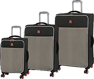IT Luggage Filament 8-Wheel Lightweight 3-Piece, Grey Rhapsody