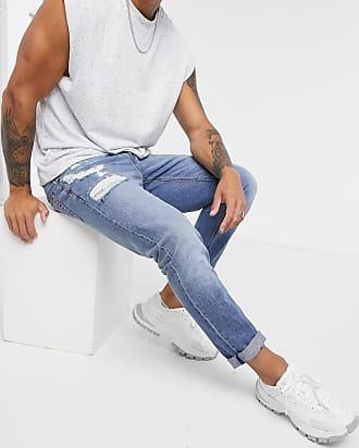 Pantalones Pitillo De Asos Para Hombre En Azul Stylight