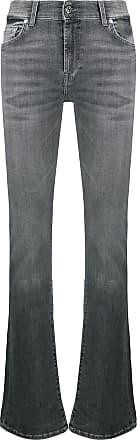 7 For All Mankind Calça jeans flare cintura alta - Cinza