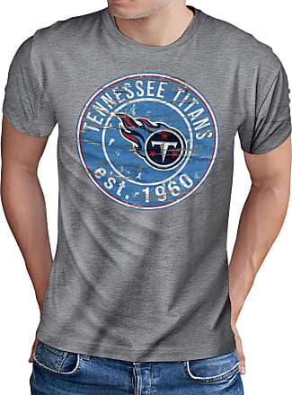OM3 Tennesse-Badge - T-Shirt | Mens | American Football Shirt | XXL, Heather Grey