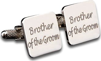 DQT Premium Rhodium Plated Laser Square Fashion Casual Formal Elegant Brother of the Groom Wedding Cufflinks