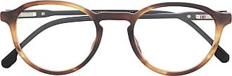Carrera Armação de óculos redonda com efeito tartaruga - Marrom