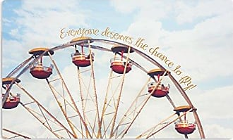 KESS InHouse Beth EngelThe Chance To Fly Ferris Wheel Artistic Aluminum Magnet, 2 by 3, Multicolor