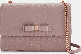 Ted Baker Bow Detail Leather Cross Body Bag in Pale Pink JOANAA, Womens Accessories