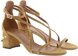 L'autre Chose Sandals - Suede Heel Cigar - brown - Sandals for ladies
