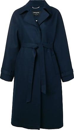 Rochas Trench coat com cinto - Azul