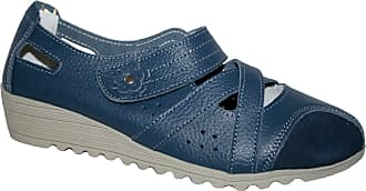Cushion-Walk Ladies Julietta Lifestyle Leather Moccasin Loafer Boat Deck Shoes Size 3-8 (4 UK, Navy Wedge)
