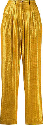 Forte_Forte geometric print straight trousers - GOLD
