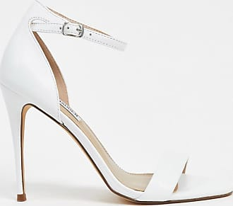 Steve Madden Reeves barely there high heel sandals in white leather