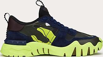 Valentino Valentino Sneaker Rockrunner Plus Camouflage Fluo Man Neon Yellow Camouflage 100% Pelle Di Vitello - Bos Taurus 39.5