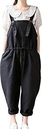 Casual Baggy Jumpsuit Overalls Guiran Damen Leinen Kurze Latzhose Elegant Shorts Kurz Hosen Bermuda