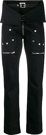 Zilver denim aviator trousers - Black
