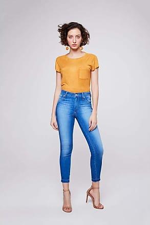 Damyller Calça Jeans Jegging Cropped Básica Tam: 44 / Cor: BLUE