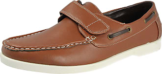 Cushion-Walk Mens Faux Leather Classic Boat Deck Casual Loafers Shoes Size 7-11 (UK 8, Brown)