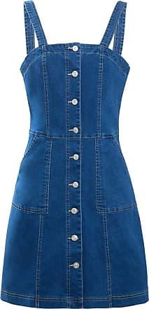 SS7 Womens Denim Pinafore Dress