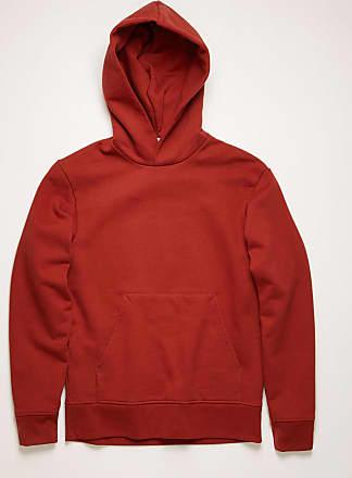 Acne Studios FN-MN-SWEA000092 Burgunderrot Kapuzen-Sweatshirt in klassischer Passform